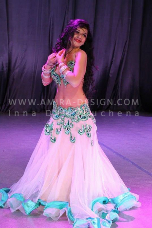 Professional bellydance costume (classic 15 a)