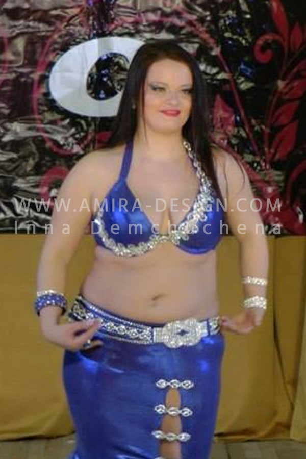 Professional bellydance costume (classic 3 a-used)