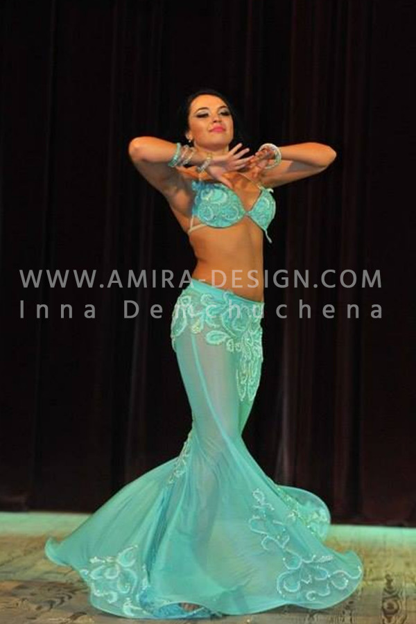 Professional bellydance costume (classic 48a)