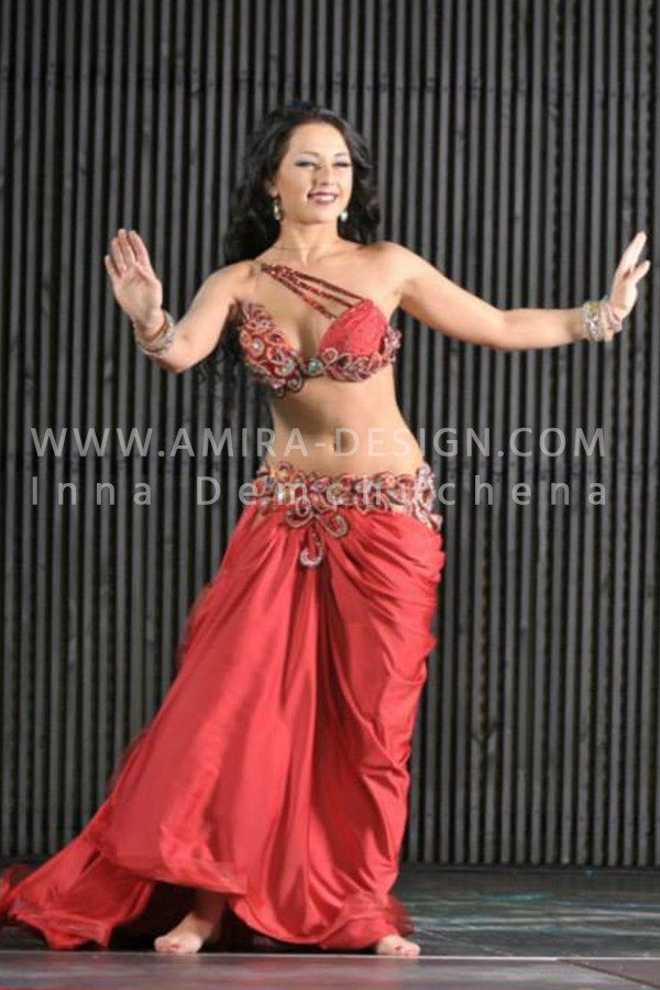 Professional bellydance costume (classic 49a)