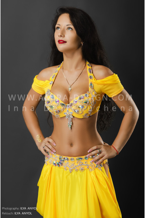 Professional bellydance costume (classic 53a)