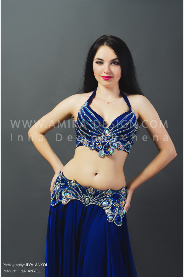 Professional bellydance costume (classic 55a)