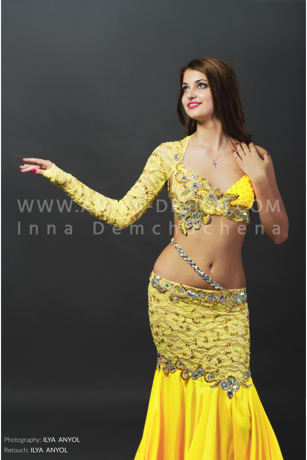 Professional bellydance costume (classic 67a)