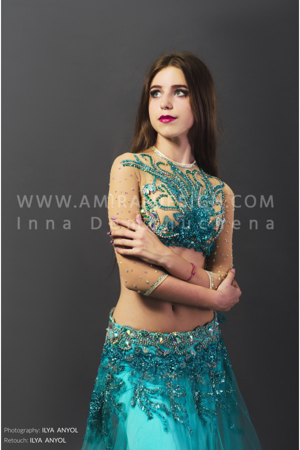 Professional bellydance costume (classic 70a)