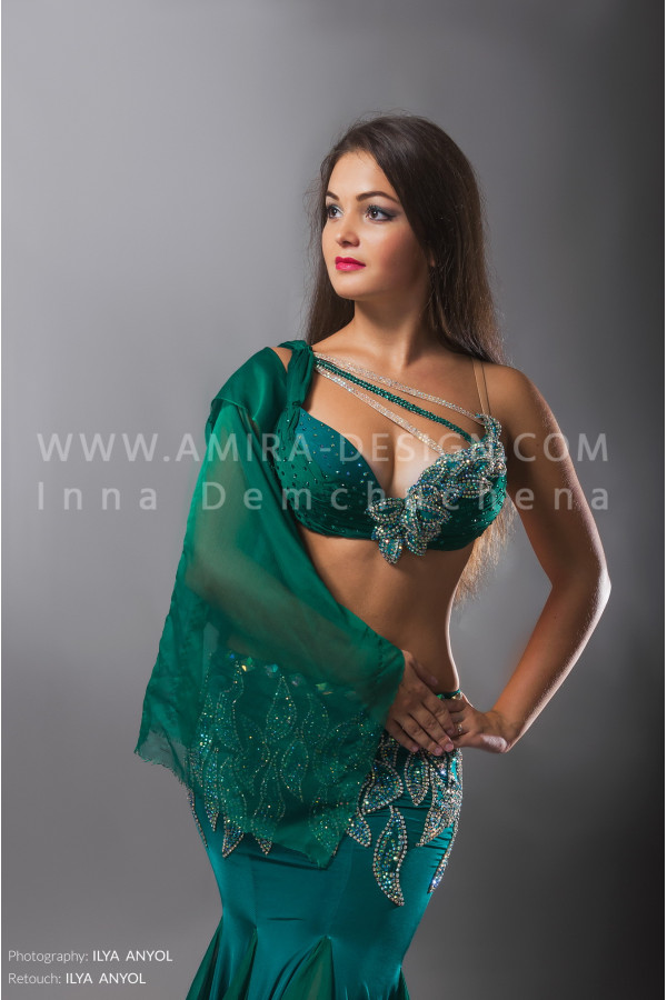 Professional bellydance costume (classic 73a)