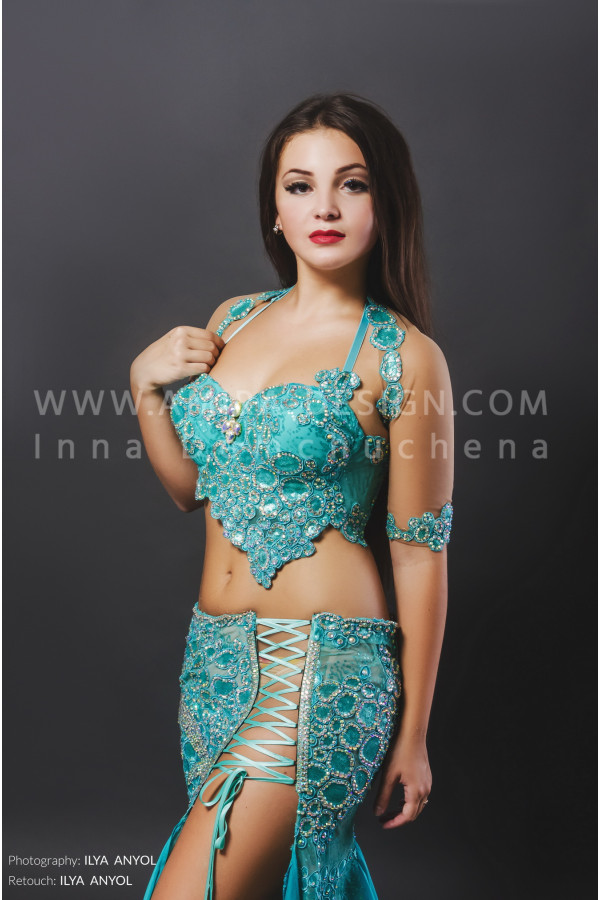 Professional bellydance costume (classic 76a)