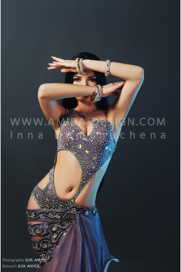 Professional bellydance costume (classic 77a)