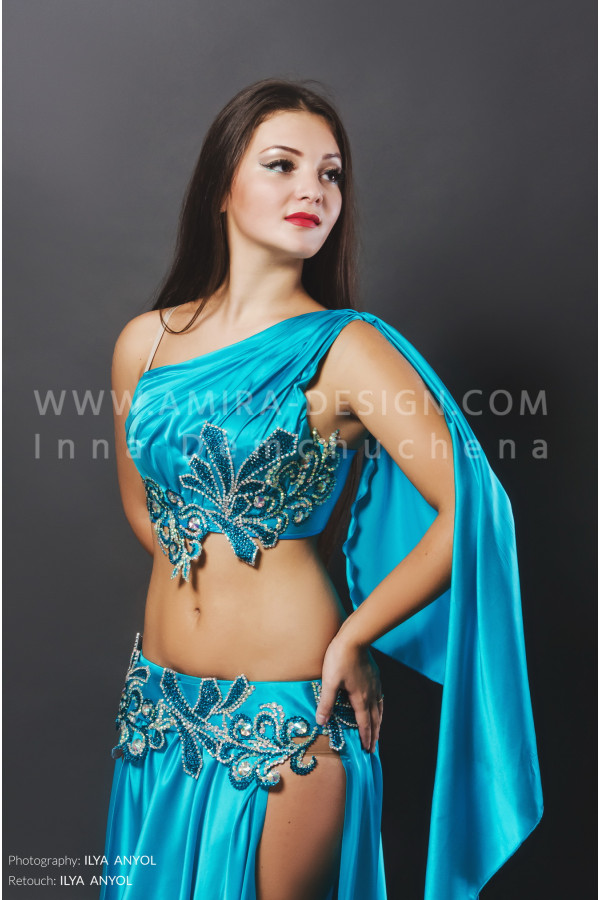 Professional bellydance costume (classic 81a)