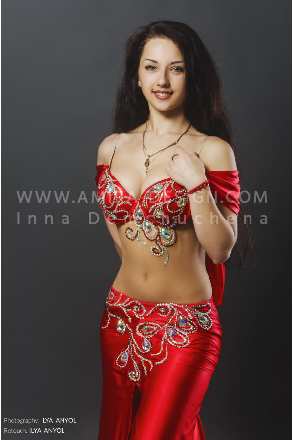 Professional bellydance costume (classic 85a)