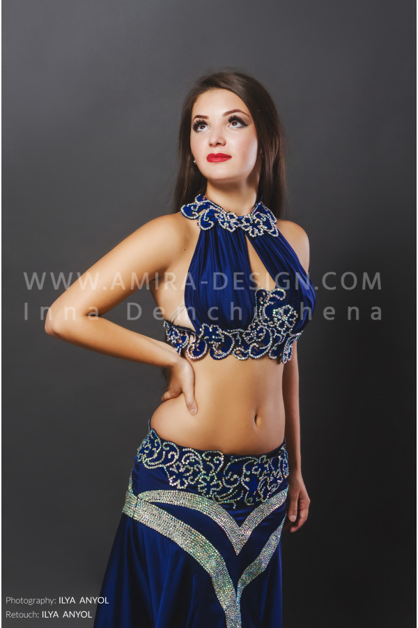 Professional bellydance costume (classic 88a)