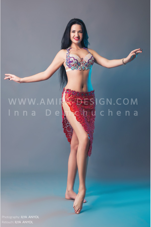 Professional bellydance costume (classic 106a)