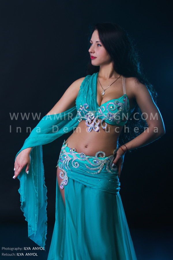 Professional bellydance costume (classic 123a)