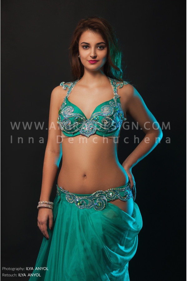 Professional bellydance costume (classic 127a)