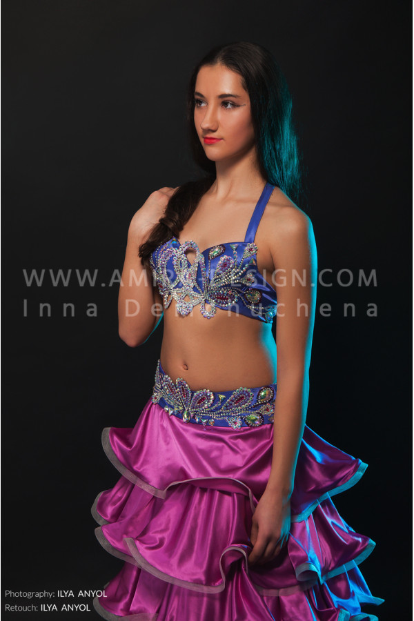 Professional bellydance costume (classic 128 a)