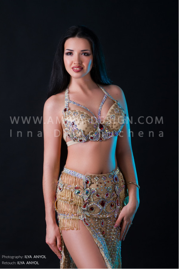 Professional bellydance costume (classic 137a)