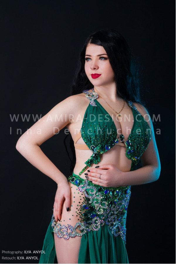 Professional bellydance costume (classic 138a)