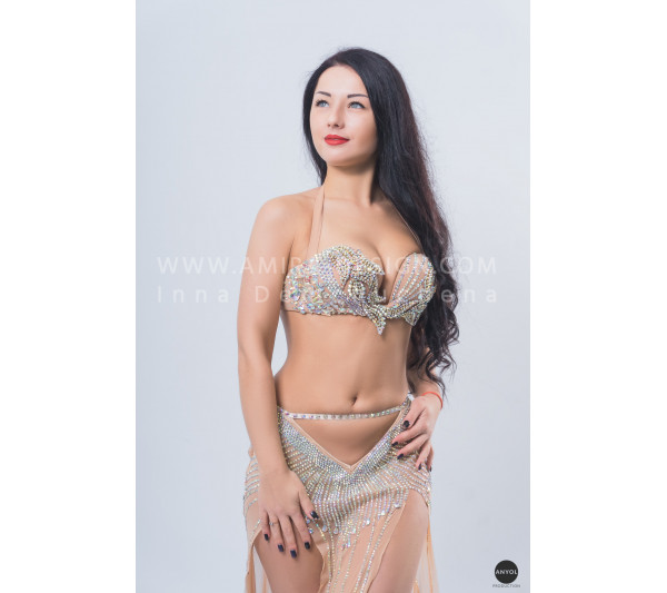 Professional bellydance costume (classic 142a)