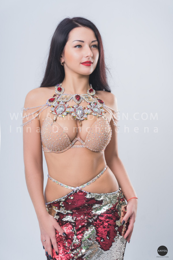 Professional bellydance costume (classic 147a)