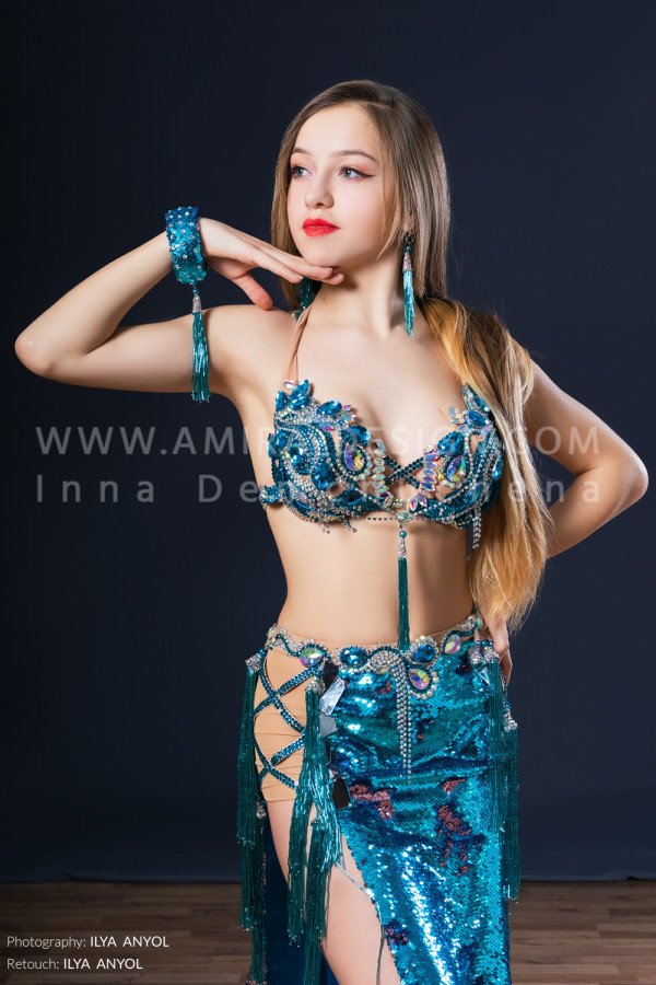 Professional bellydance costume (classic 170a)