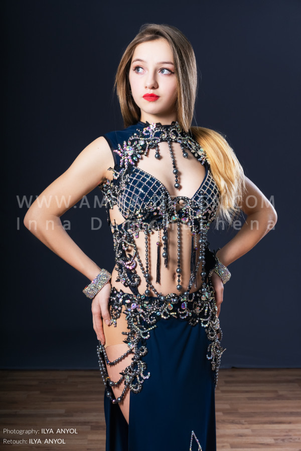 Professional bellydance costume (classic 171a)