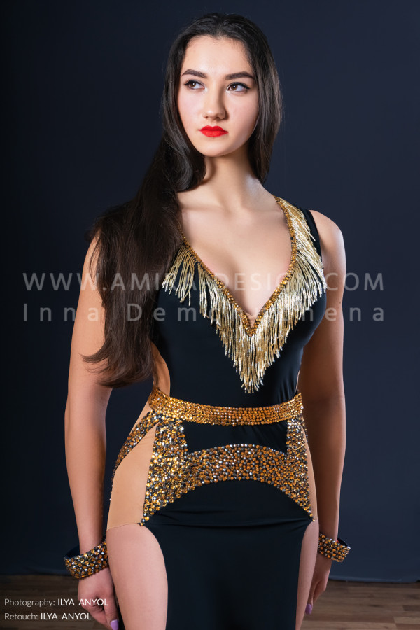 Professional bellydance costume (classic 173a)