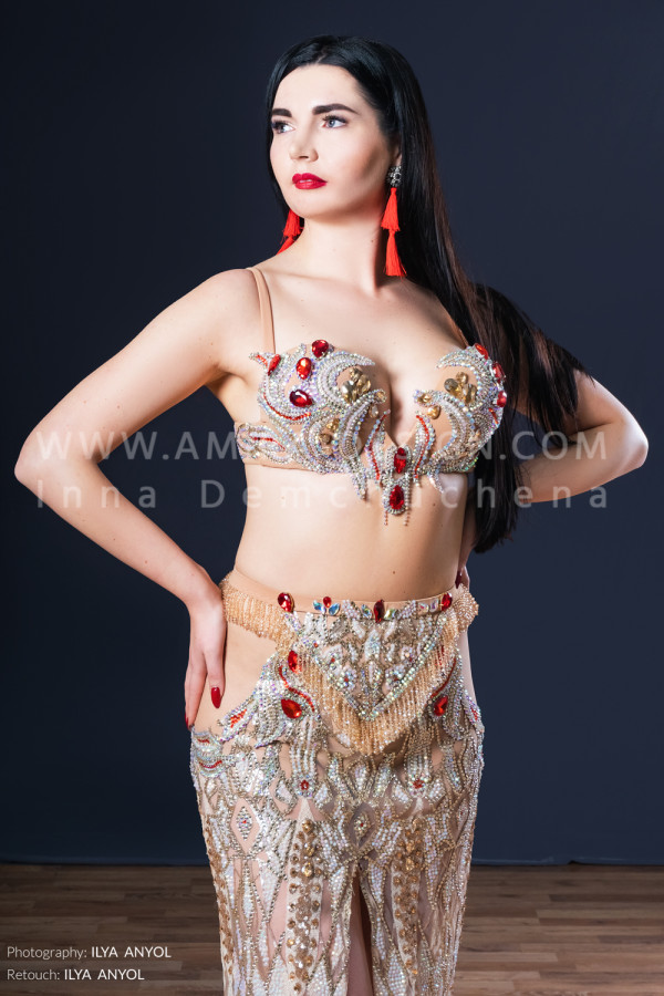 Professional bellydance costume (classic 176a)