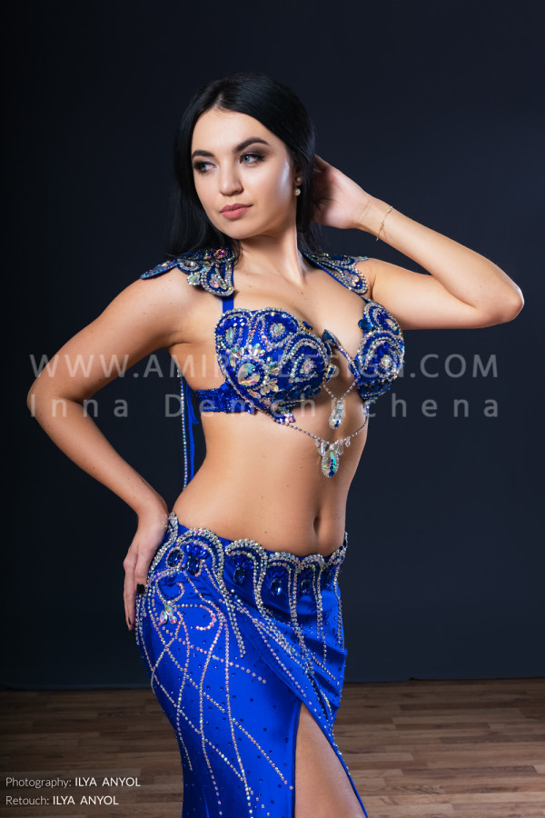 Professional bellydance costume (classic 181a)