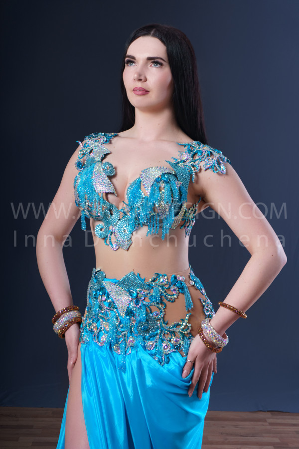 Professional bellydance costume (classic 175a)