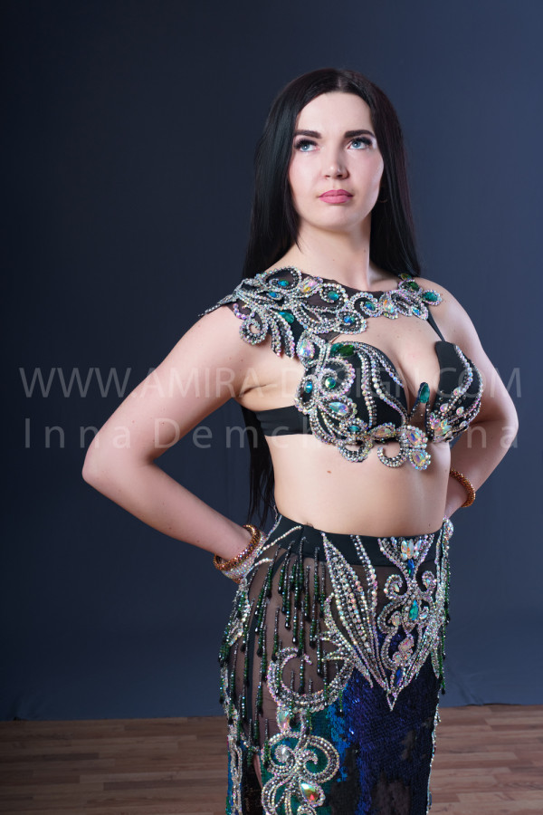 Professional bellydance costume (classic 183a)