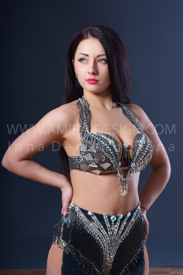 Professional bellydance costume (classic 184a)