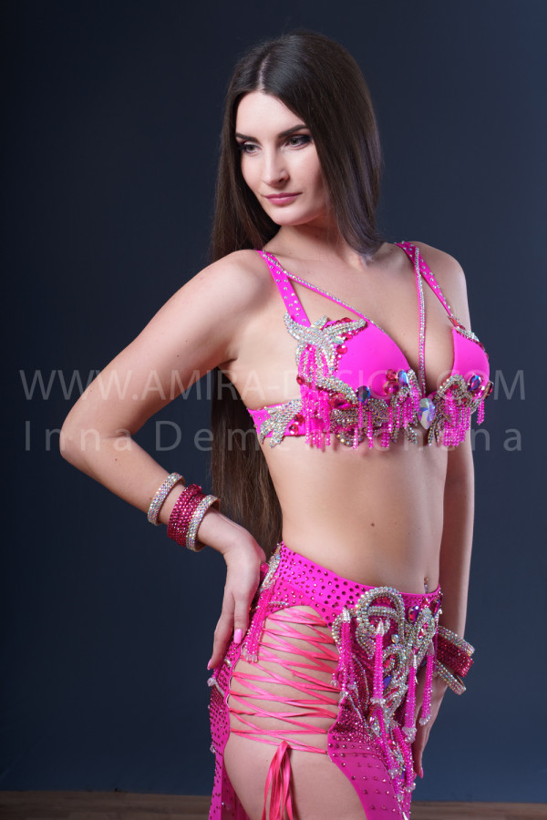 Professional bellydance costume (classic 187a)