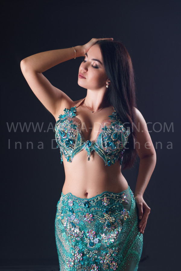 Professional bellydance costume (classic 189a)