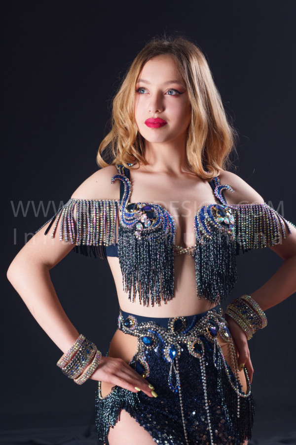 Professional bellydance costume (classic 191a)