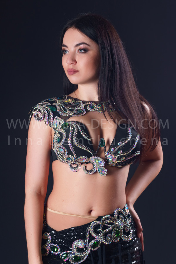 Professional bellydance costume (classic 192a)