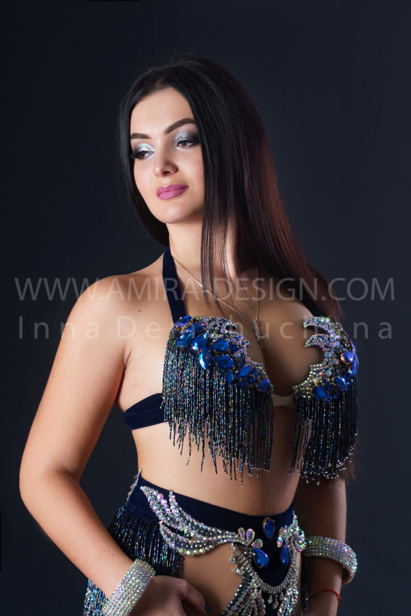 Professional bellydance costume (classic 196a)
