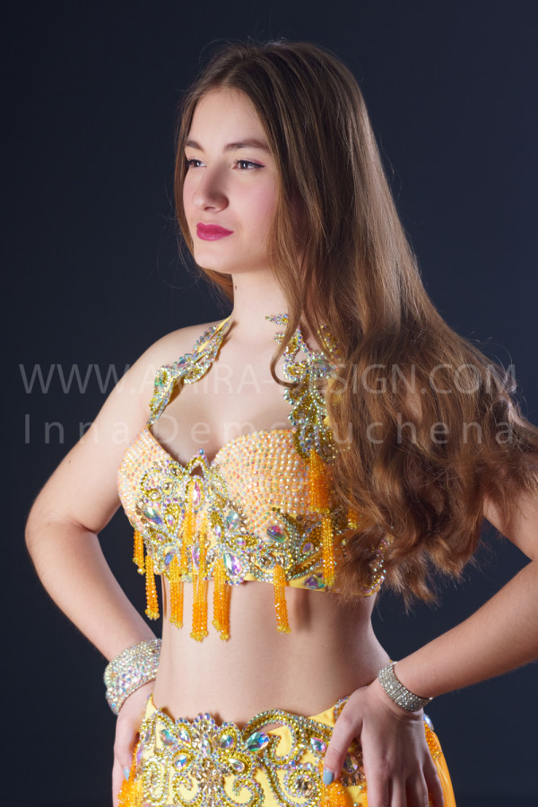 Professional bellydance costume (classic 203a)