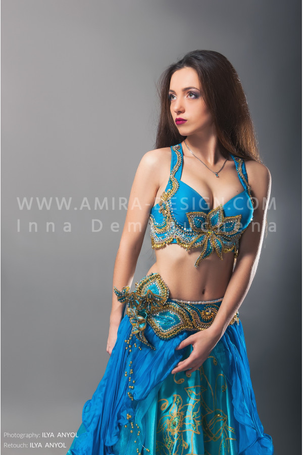 Professional bellydance costume (classic 16 с-used)