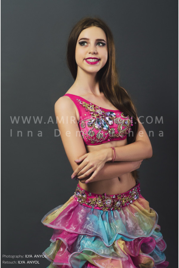 Professional bellydance costume (classic 17 с-used)