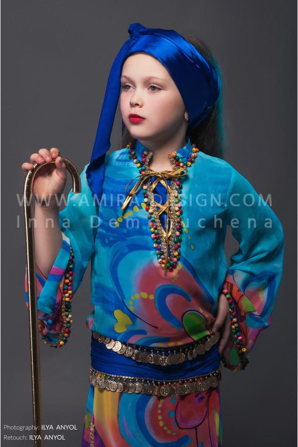 Folklore bellydance costume (folk 7с)