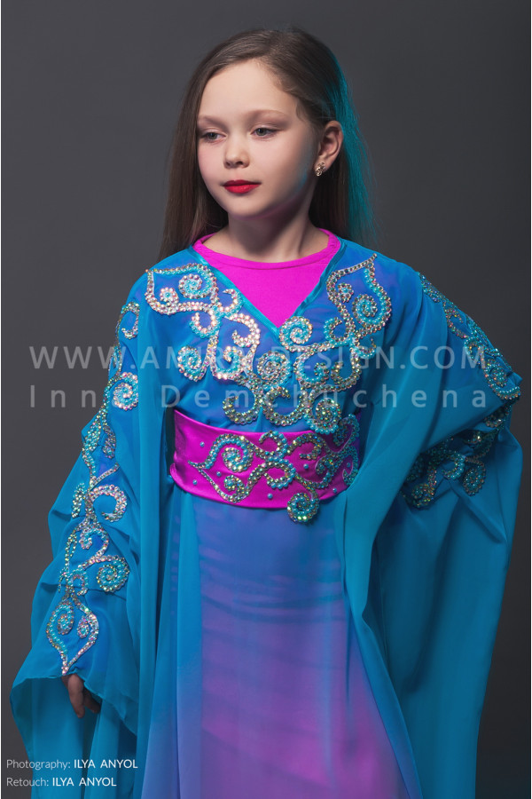 Folklore bellydance costume (folk 9с)