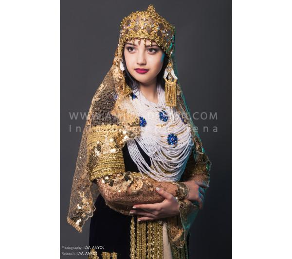 Folklore bellydance costume (folk 40а-used)