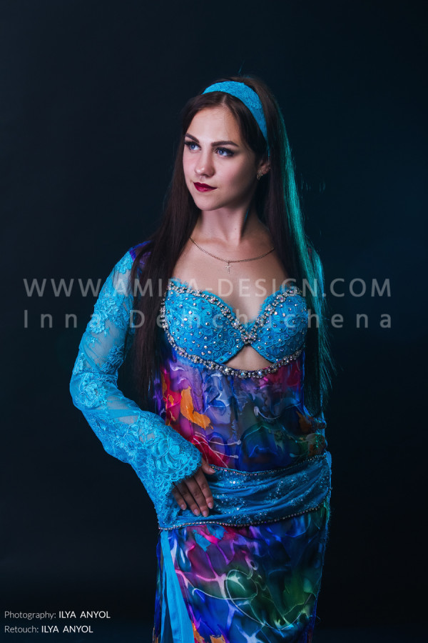 Folklore bellydance costume (folk 47а-used)